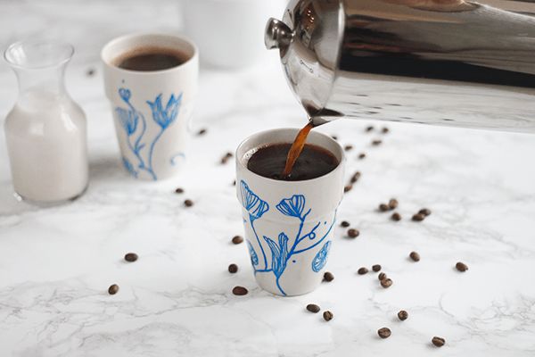 DIY Anthropologie Inspired Mugs from Wellnesting