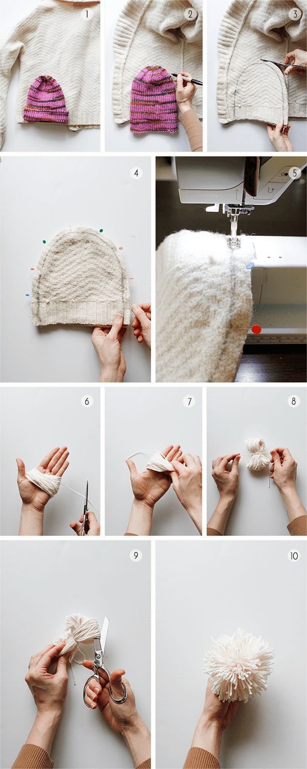 How to Make a Hat from an Old Sweater