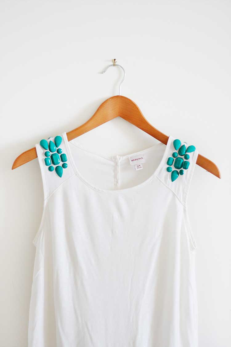 DIY Gem Tee Makeover
