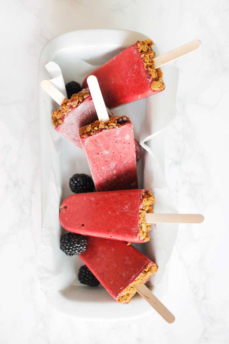 Blackberry Pie Popsicles