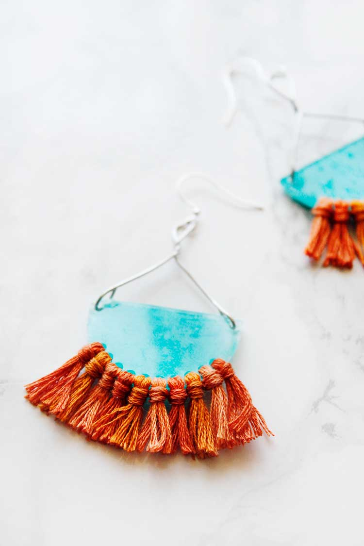 DIY Tribal Earrings from Shrink Plastic | Wellnesting