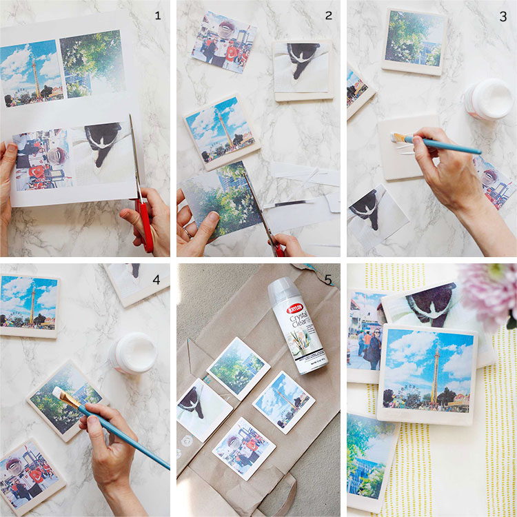 Put your Instagram photos to good use with these cute DIY Polaroid coasters | Wellnesting