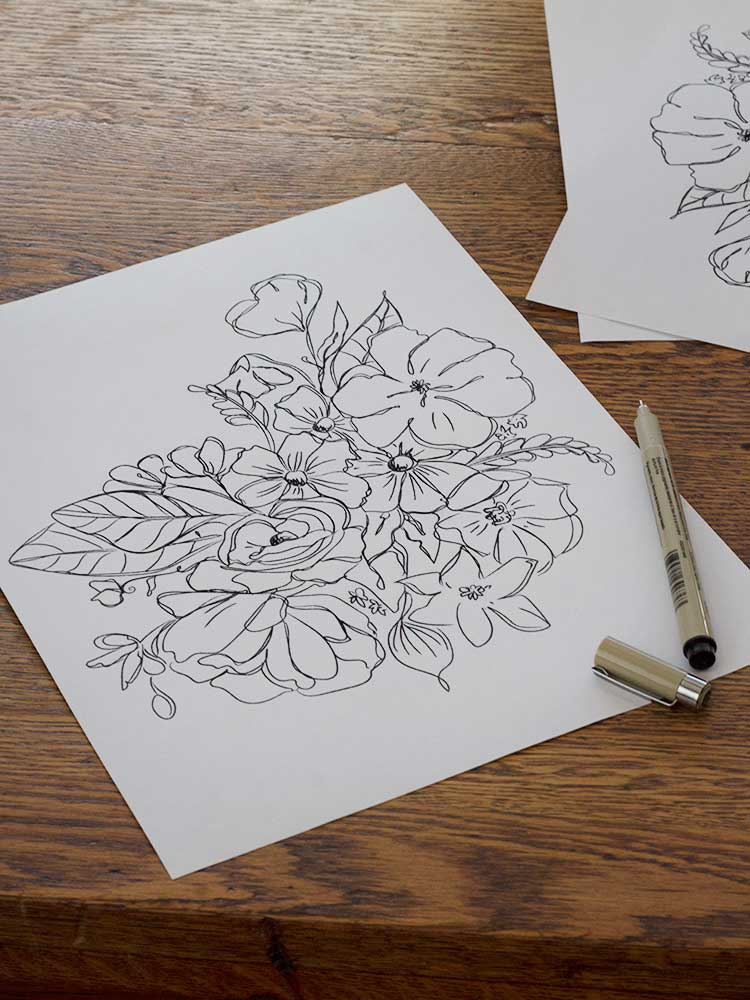 A Hand Drawn Art Freebie for Your Nest from Wellnesting