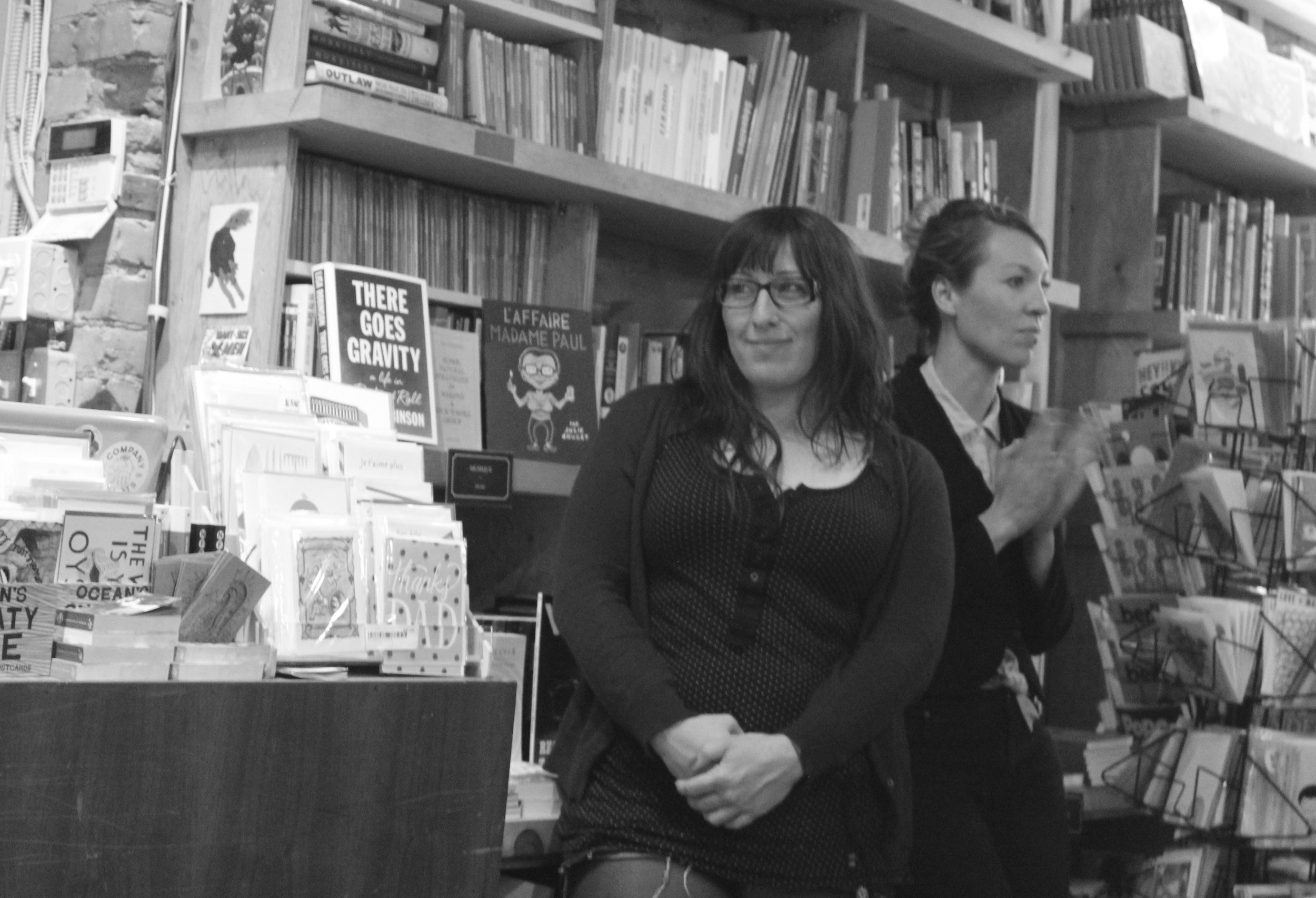Illustrator Nicole Legault with Kirsten McCrea.