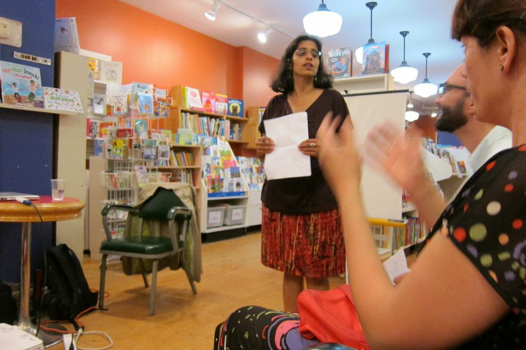 Anjula at Another Story making the introductions.