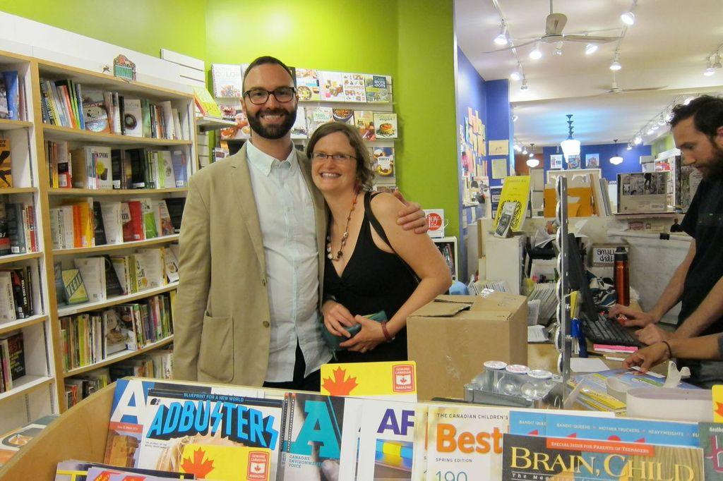 My sister, Corinne Garlick, and I after the reading. I'm so glad she could make it up.
