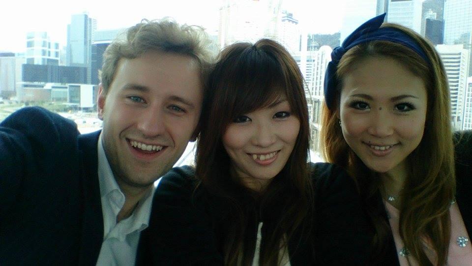 With my friends Sayaka and Songae in Hong Kong