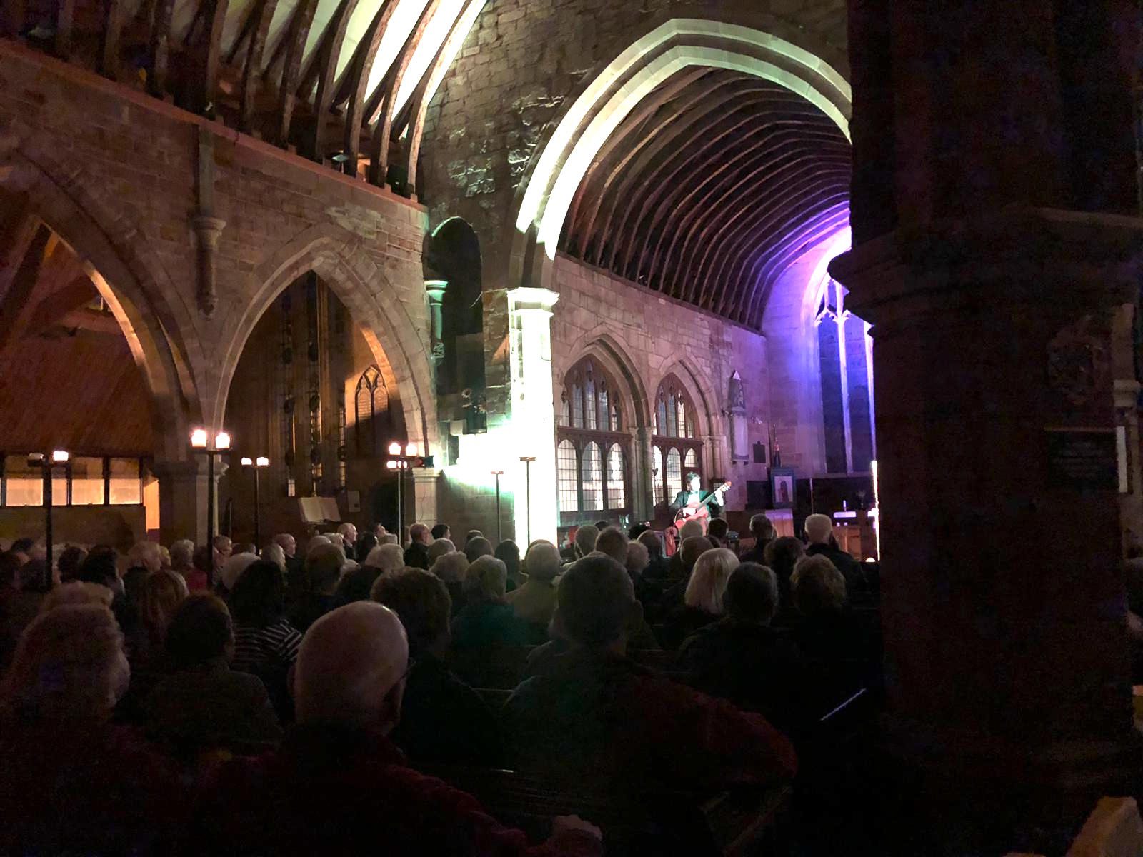 Audience shot from Michael's performance at St. Peter's Church in Kinver on Saturday 4th May 2019