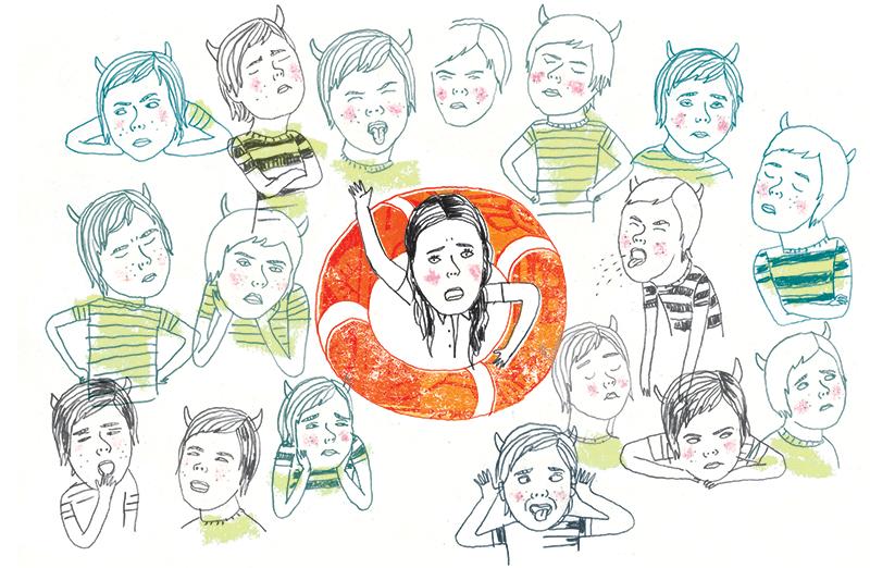 Le récit d'une croisière désastreuse pour la mère d'un enfant turbulent./ A cruise turned nightmare for the mother of a hard to manage little boy.    Client : Globe and Mail