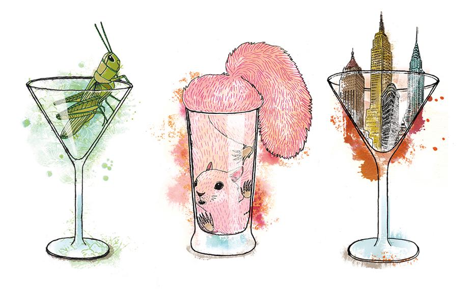 Campagne de publicité faisant la promotion des cocktails. /  Advertising Campaign to promote cocktails.    Client : Sid Lee /Société des alcools du Québec (SAQ)