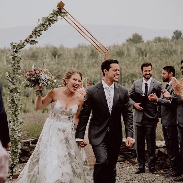 Its that just married feeling!! Trust me there is literally nothing in the world like it!  #heywildweddings #marriedatlast #loveandwildhearts #twosecretvows #weddingdayready #radlovers #forthewildlyinlove #winerywedding #justalittleloveinspo #wildhairandhappyhearts #pnwbride #creativeplanning #pnwonderland #tinsparrowevents #lovelybride #weddingledgends #soexcited #love #weloveourclients #epicloveepiclife #thebelovedstories #dreamers