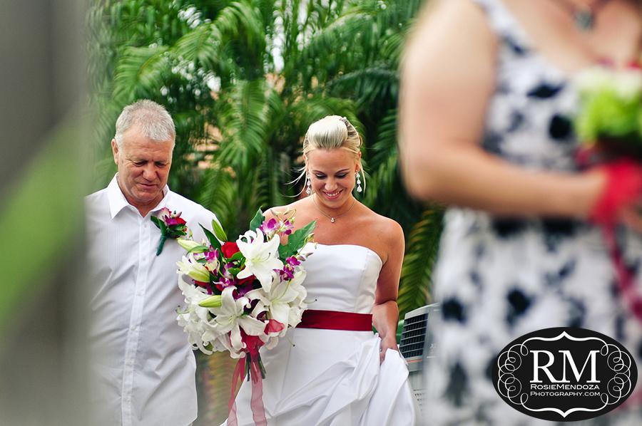 Fort-Lauderdale-backyard-wedding-walking-down-the-isle-photo