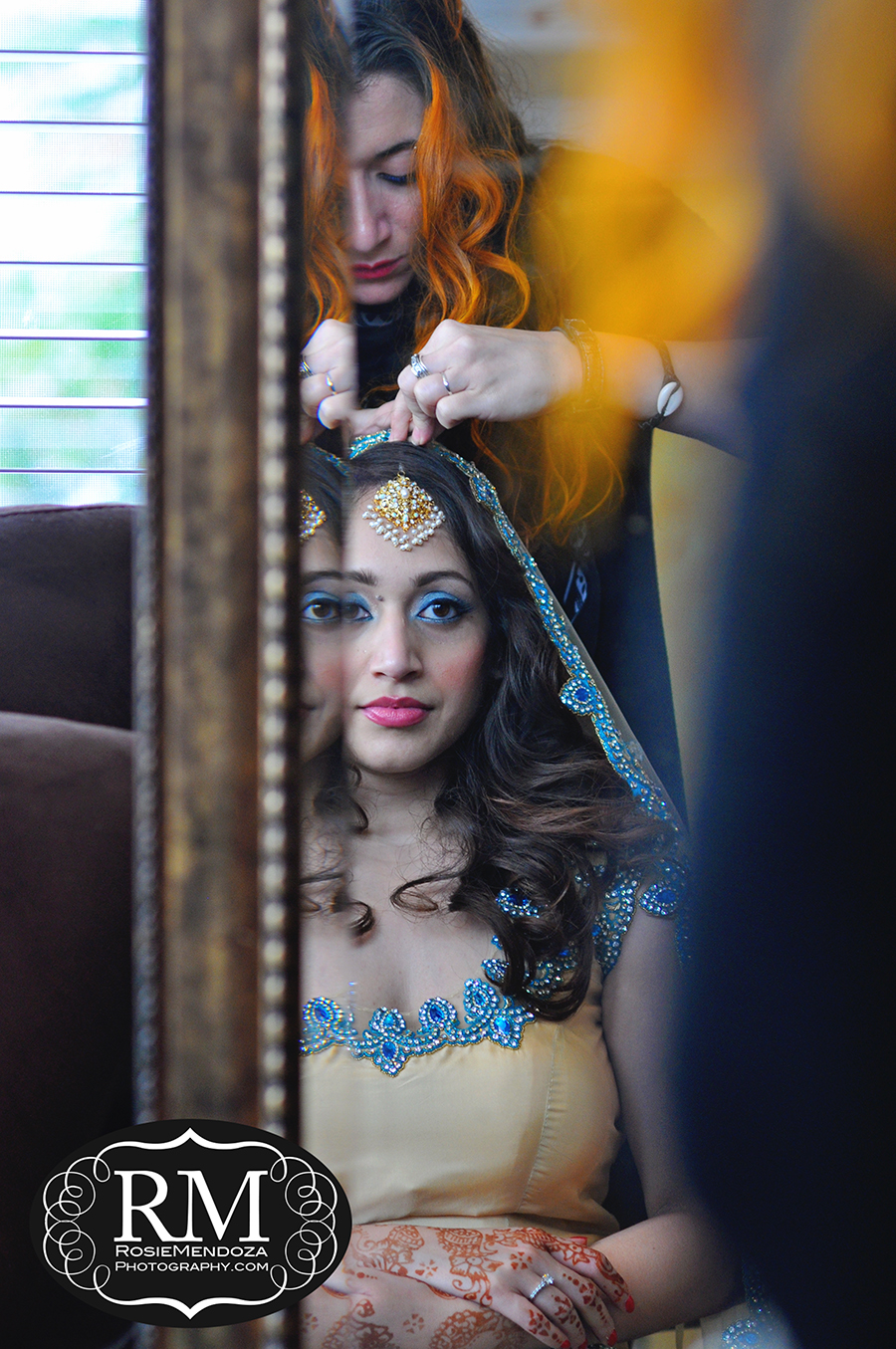Fort-Lauderdale-Harbor-Beach-Marriott-Resort-and-Spa-Destination-Indian-Wedding-bride-makeup-photo