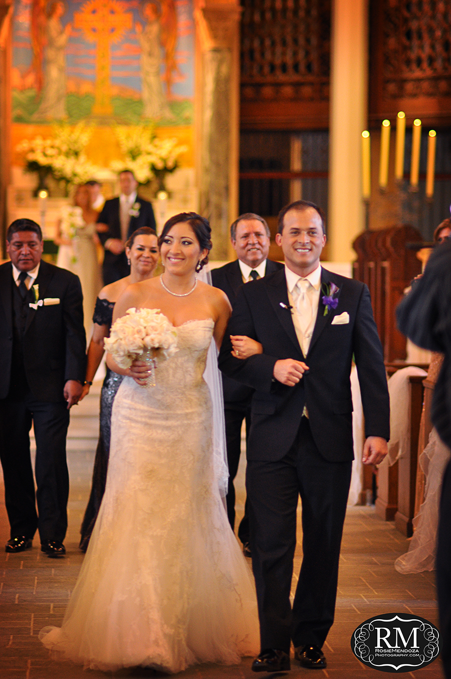 Downtown-Miami-Trinity-Episcopal-Cathedral-wedding-ceremony-exit-photo