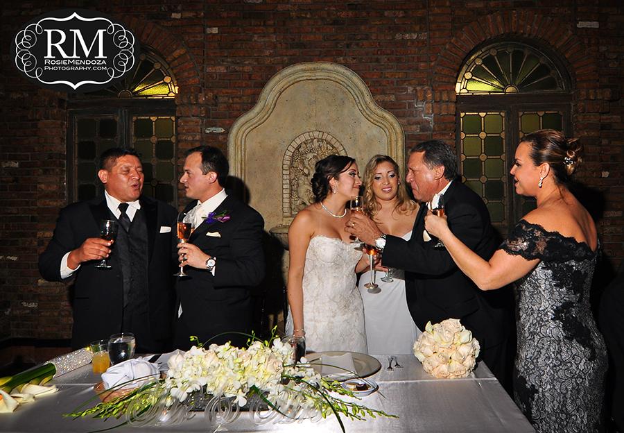 Coral-Gables-The-Cruz-Building-wedding-toast-photo