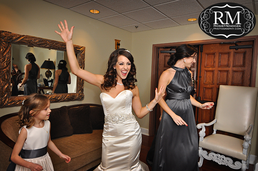 Bride is ready to get married and have some fun