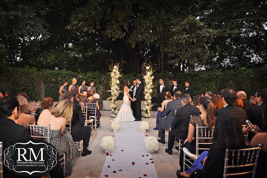 Panoramic of wedding ceremony set up