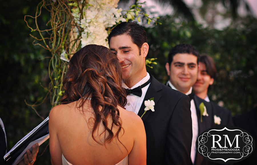Lovely exchange of expressions between bride and groom
