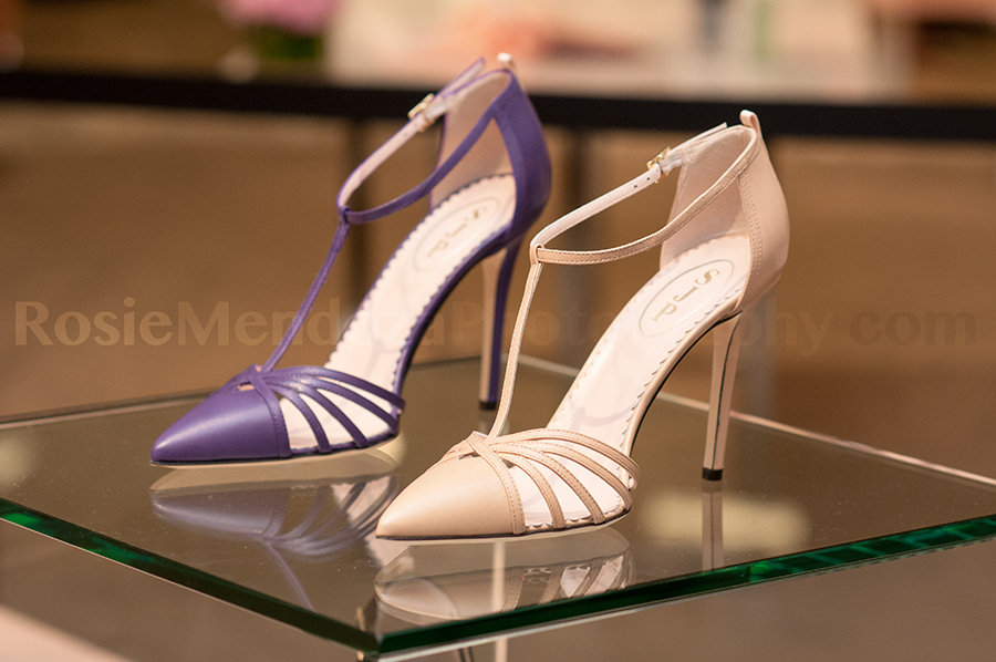 Carrie in purple and nude.