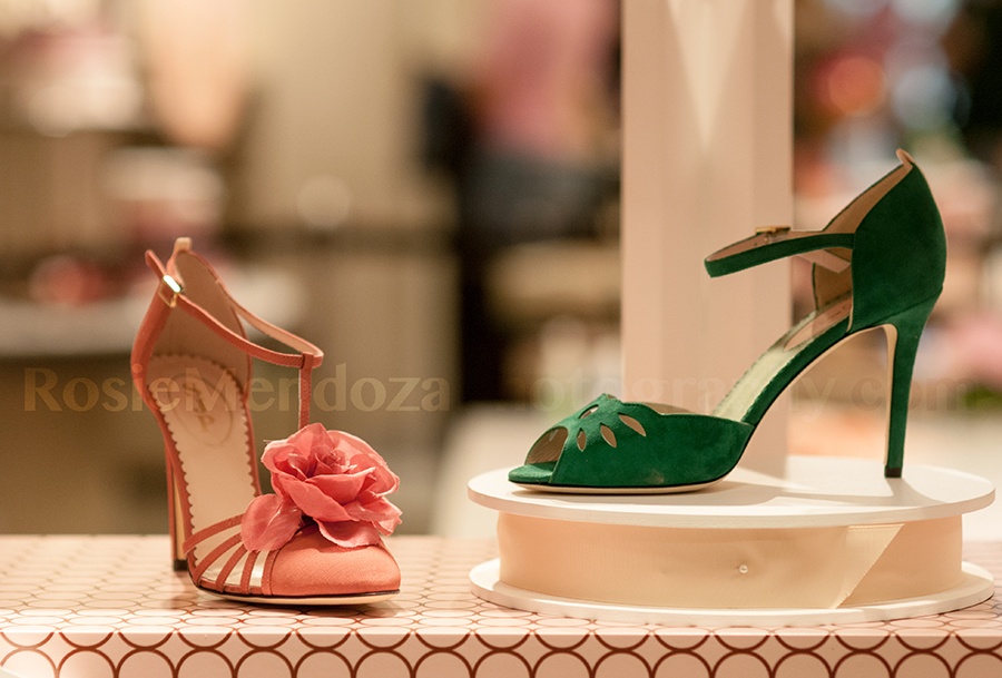 Etta in pink and Ina in green suede.