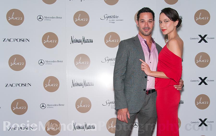 Guests Dr. Rian Maercks and model Nicole Kirigin