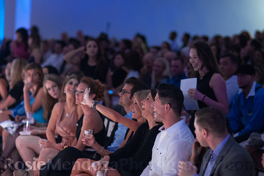 Guests celebrating one of the many auctions winners, Jessica Kidner