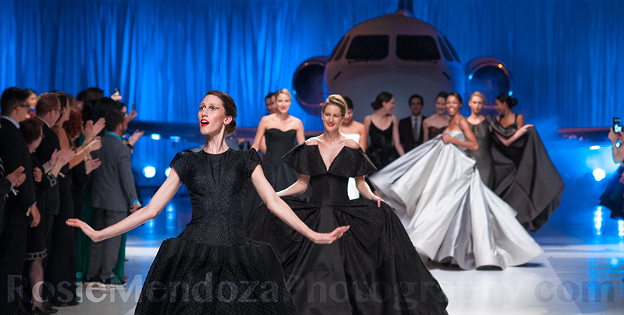 Zac Posen Fall 2014 Collection featuring model Anna Cleveland