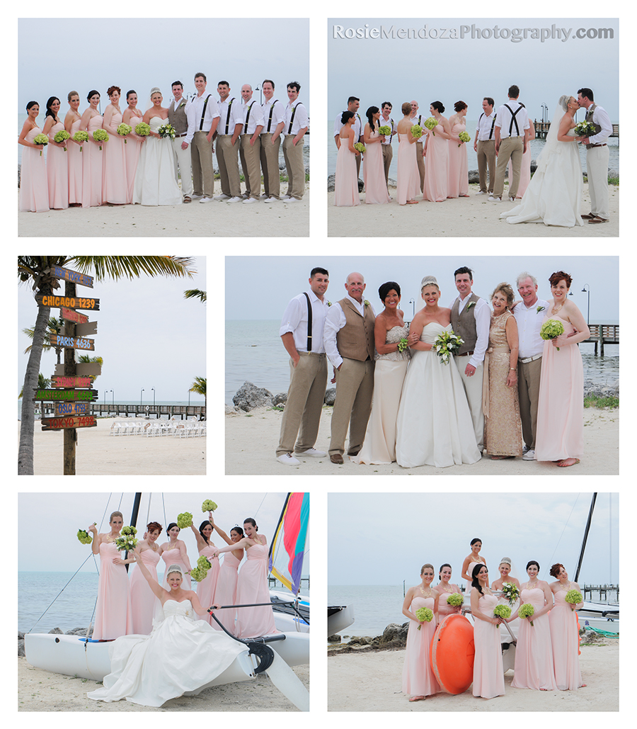 The weather leading to the reception was hot and extremely humid; typical Summer South Florida forecast.