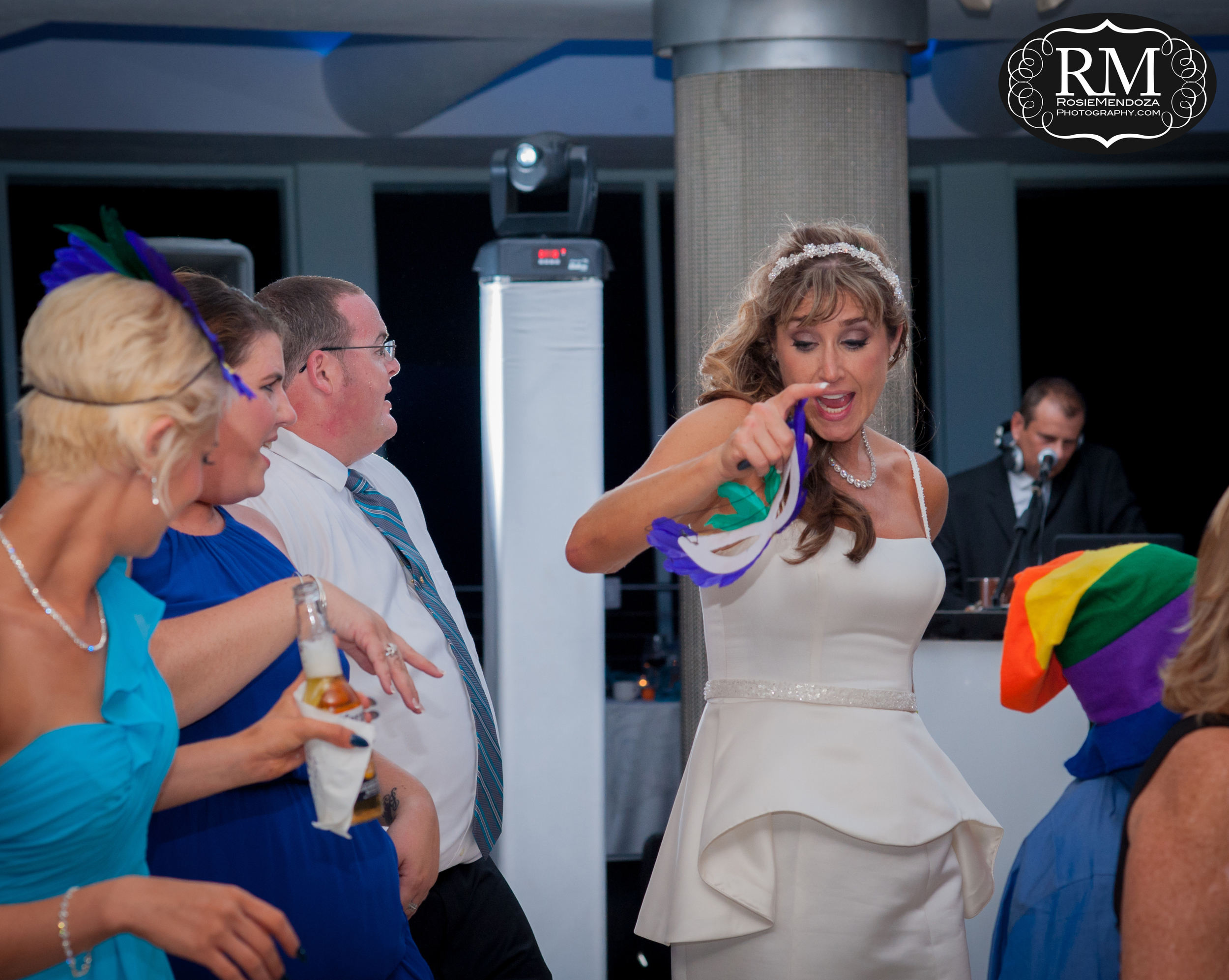 Bride showing how it is done.
