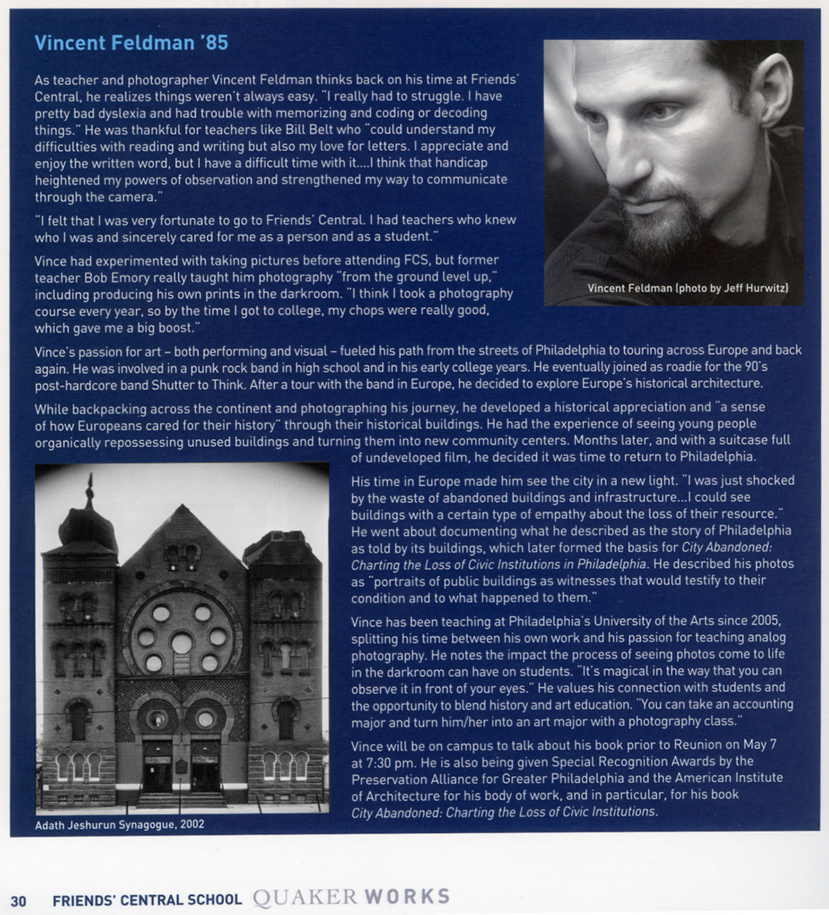From Quaker Works, Spring 2015, The Magazine of Friends' Central School.