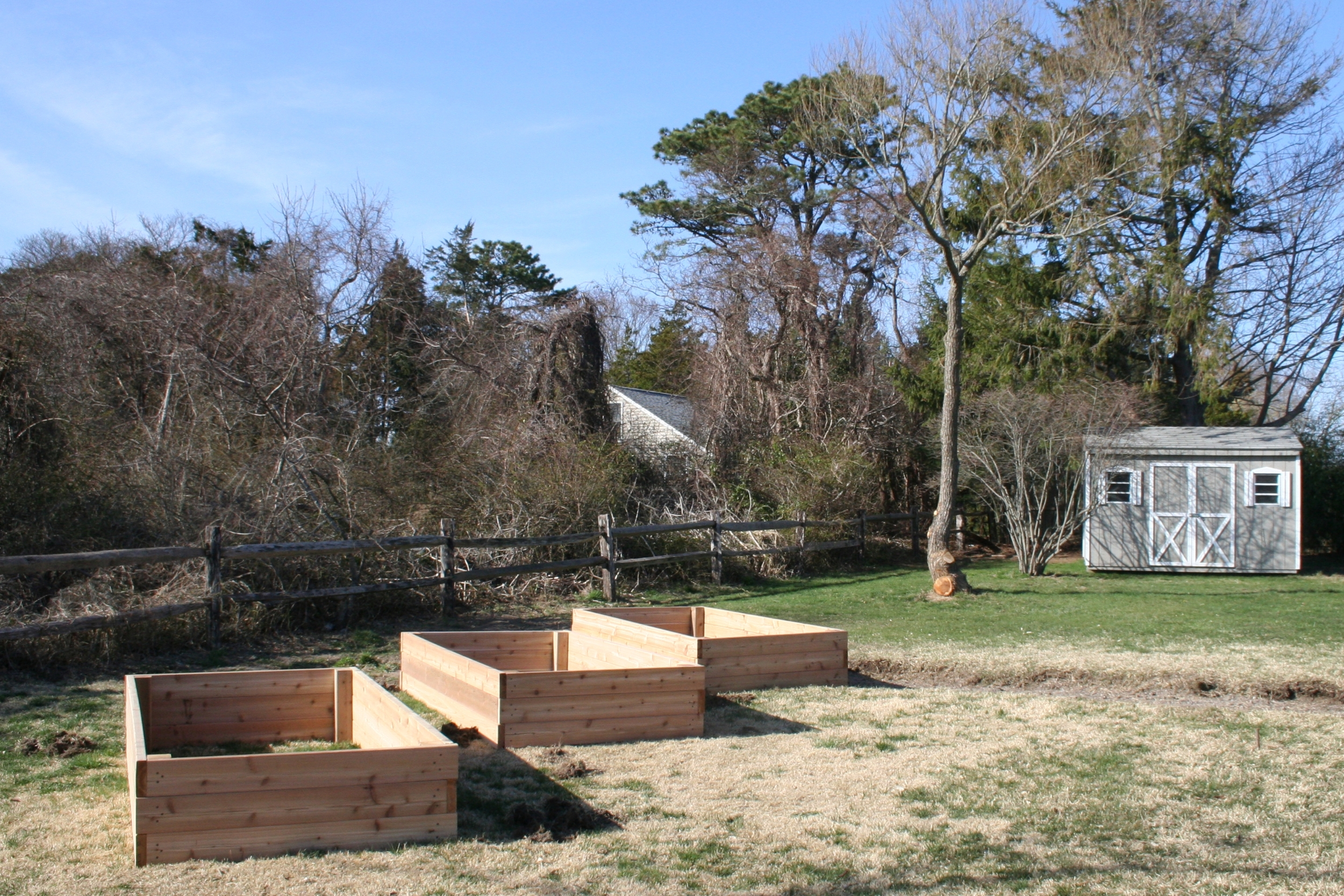Raised Bed Garden Under Consruction.JPG