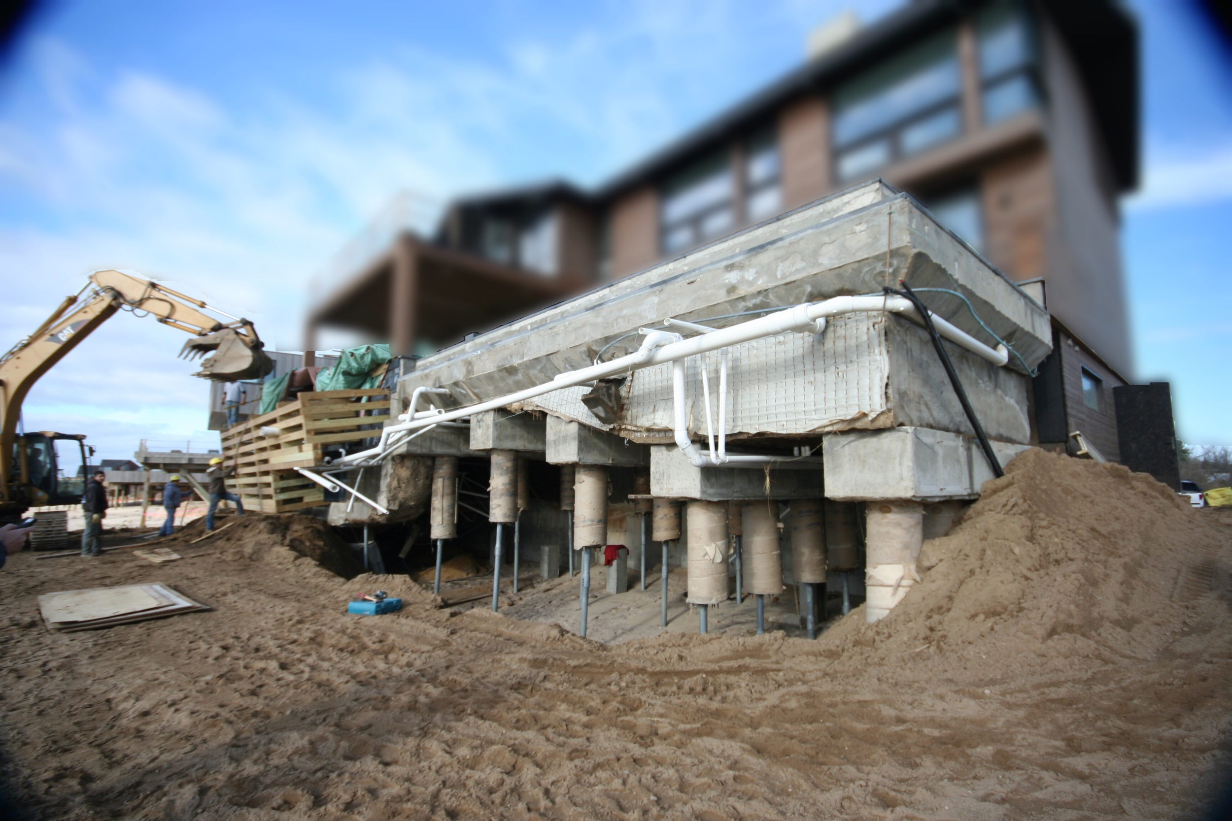 Photo of Exposed Pool Structure Following Hurricane Sandy (photo courtesy of Tortorella Group)