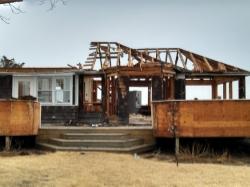 Sunset Green Home Under Deconstruction