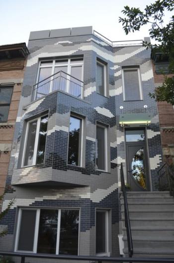 Façade of the Climate Change Row House