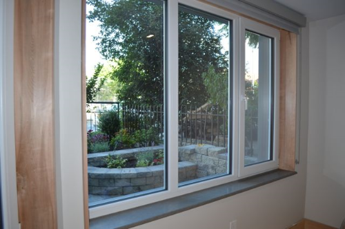 Triple pane Schuco windows with Argon gas for superior insulation