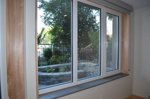 Triple pane Schuco windows with Argon gas for superior insulation