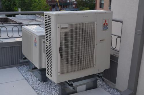 Mitsubishi heat pumps provide supplemental heating and cooling capacity