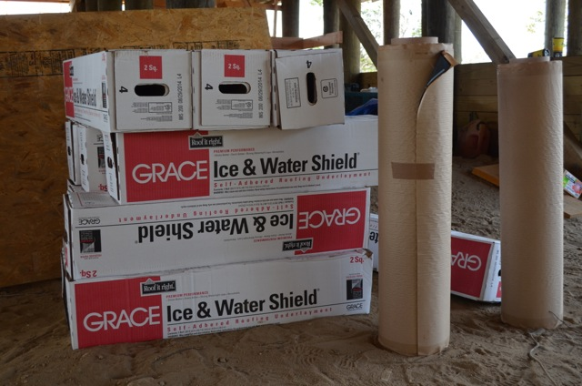 Rolls of Grace Ice & Water Shield for Sunset Green Home's roof
