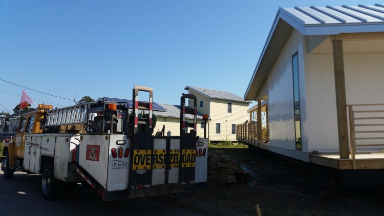 Delivery of the first section of Make It Right's newest home