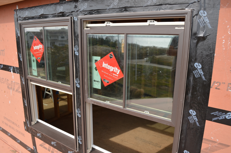 Integrity Windows with Zip Flashing Tape