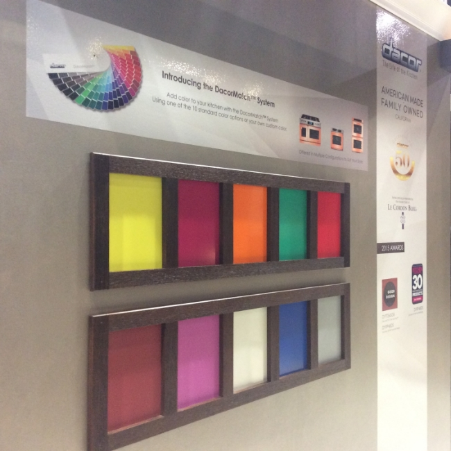 The DacorMatch system creates custom-colored appliances from pantone colors or paint swatches.