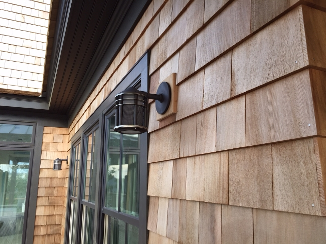 Certi-label side wall shingles from Liberty Cedar