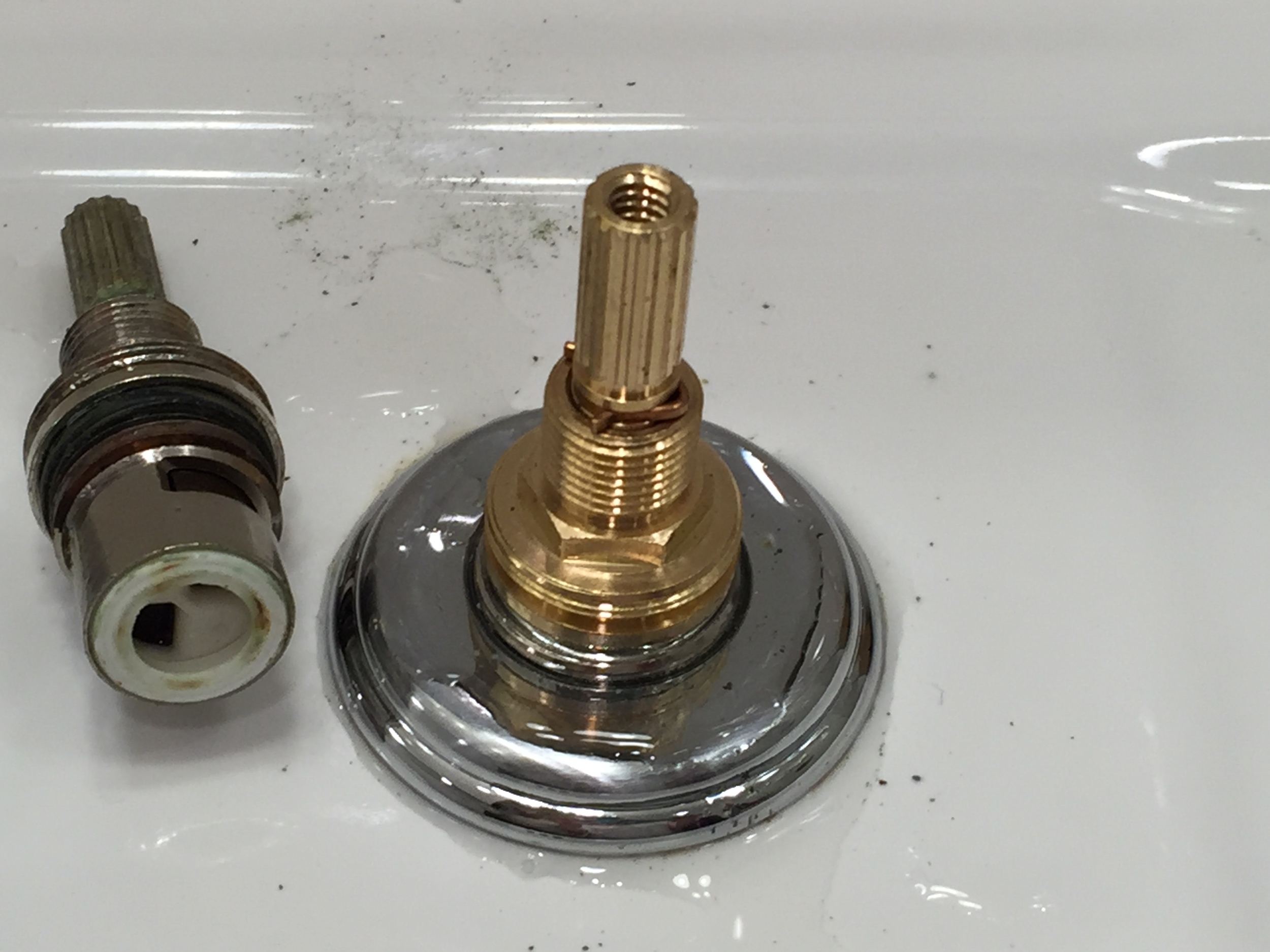 New cartridge installed in the faucet...