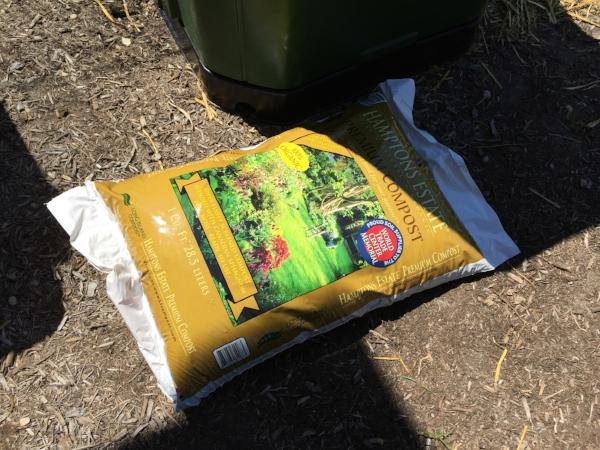 "Organic compost to ""seed"" the bin"