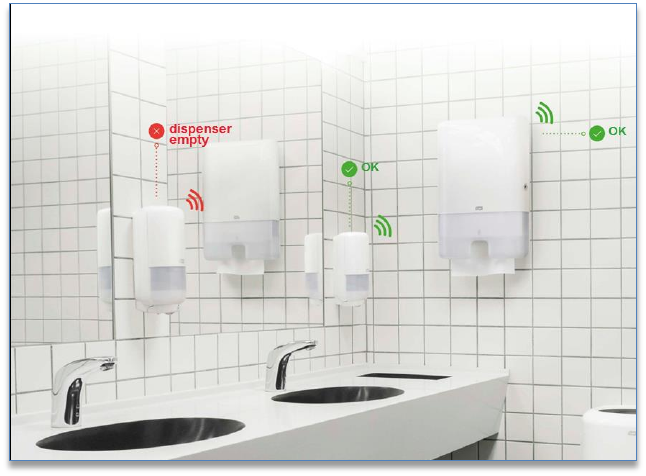 Tork EasyCube Intelligent Restroom System
