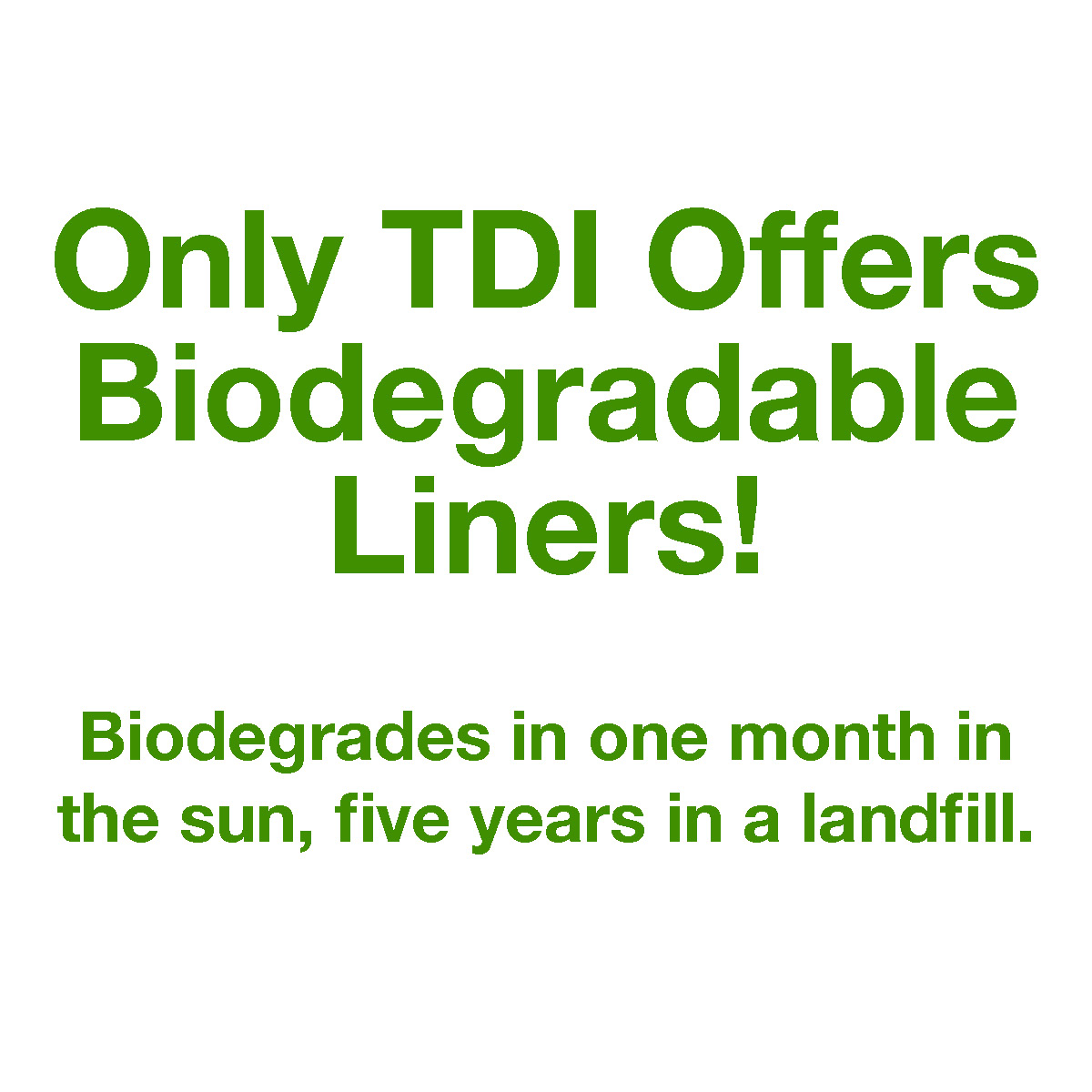 TDI Biodegradable Trunk Liners
