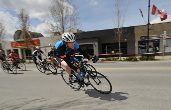 Local Ride Racing's Steve Devantier during the 2013 Cat 3/4 Men's Race the Ridge Criterium. Photo: Paul Craig