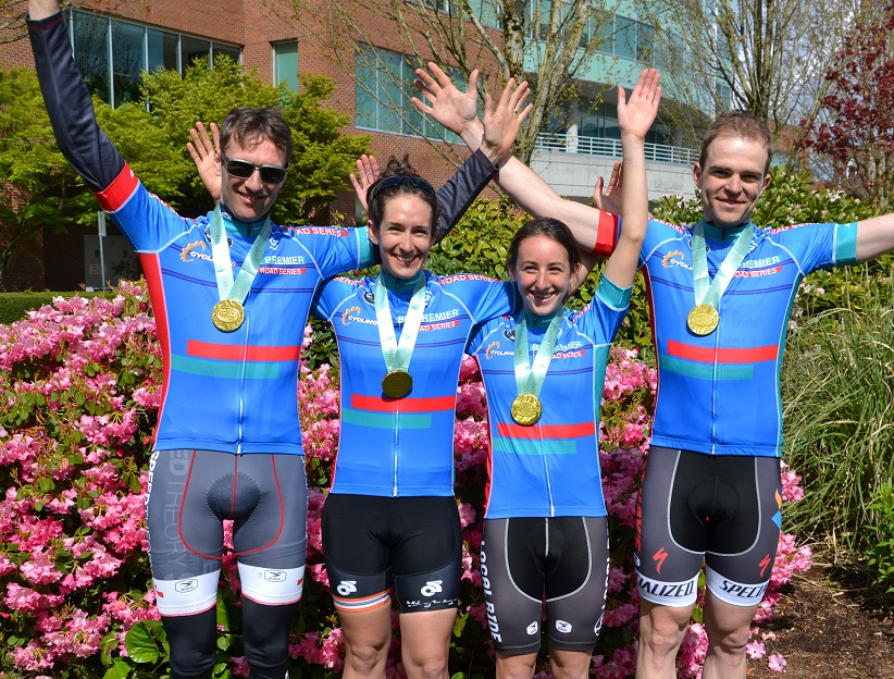 "BC Premier Series Leaders after Race the Ridge (l-r)  Mike Elliston (Speed Theory) of Vancouver – Master 40+ Men, Sara Bergen (Mighty Riders) of Vancouver – Cat 1-2 Women, Maggie Coles-Lyster (Local Ride Racing) of Maple Ridge – Cat 3-4 Women, Curtis Dearden (Accent Inns/Russ Hay's p/b Scotia Bank) of Victoria – Cat 1-2 Men. Photo: Pete Whalen       Normal   0           false   false   false     EN-CA   X-NONE   X-NONE                                                                                                                                                                                                                                                                                                                                                                                                                                                                                                                                                                                                                                                                                                                                                                                                                                                               /* Style Definitions */  table.MsoNormalTable 	{mso-style-name:""Table Normal""; 	mso-tstyle-rowband-size:0; 	mso-tstyle-colband-size:0; 	mso-style-noshow:yes; 	mso-style-priority:99; 	mso-style-parent:""""; 	mso-padding-alt:0cm 5.4pt 0cm 5.4pt; 	mso-para-margin-top:0cm; 	mso-para-margin-right:0cm; 	mso-para-margin-bottom:8.0pt; 	mso-para-margin-left:0cm; 	line-height:107%; 	mso-pagination:widow-orphan; 	font-size:11.0pt; 	font-family:""Calibri"",""sans-serif""; 	mso-ascii-font-family:Calibri; 	mso-ascii-theme-font:minor-latin; 	mso-hansi-font-family:Calibri; 	mso-hansi-theme-font:minor-latin; 	mso-fareast-language:EN-US;}"