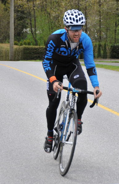 Cat 3/4 Men's Thorn Hill Road Race winner Brett Wakefield (Local Ride Racing) of Maple Ridge. Photo: Pete Whalen