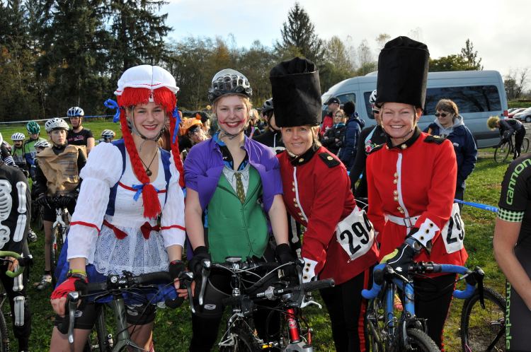 Bicycles and costumes - what more could you ask for? Photo: Paul Craig